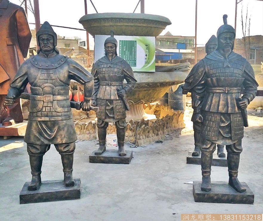 玻璃钢士兵雕塑 仿铜人物雕塑制作