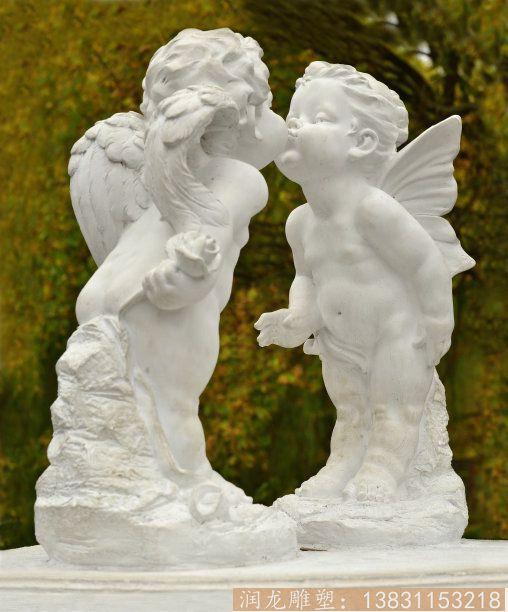 玻璃钢西方亲吻人物雕塑